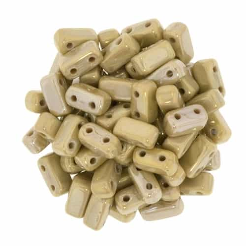 CzechMates Bricks 3x6mm - CZB-BI13070 - French Beige - Brown Iris - 25 Pieces