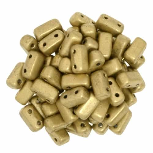 CzechMates Bricks 3x6mm - CZB-K0171 - Matte Metallic Flax