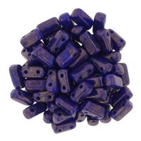 CzechMates Bricks 3x6mm - CZB-MD33060 - Indigo - Moon Dust - 25 Pieces