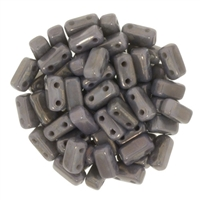 CzechMates Bricks 3x6mm - CZB-MD43020 - Ashen Grey - Moon Dust - 25 Pieces