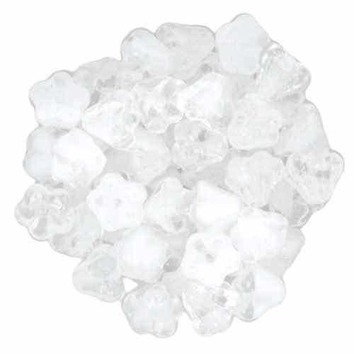 CZBBF-06008 - Baby Bell Flowers 4/6mm : Crystal/White - 25 Count