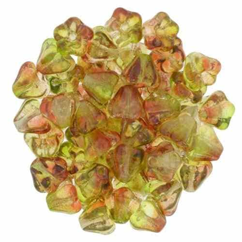 CZBBF-48017 - Baby Bell Flowers 4/6mm : Dual Coated - Peach/Pear - 25 Count