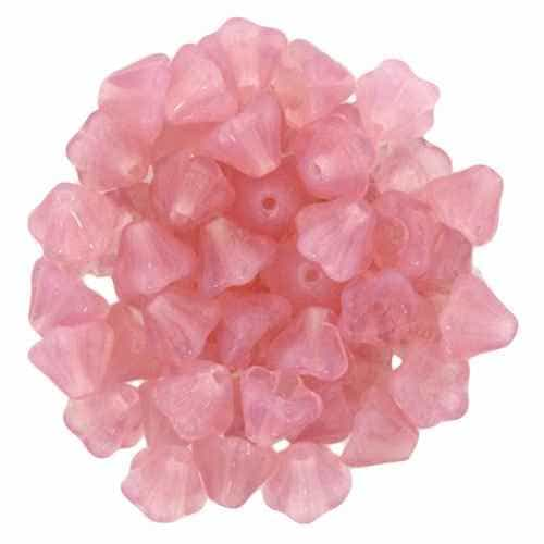 CZBBF-71000 - Baby Bell Flowers 4/6mm : Lt Milky Pink - 25 Count
