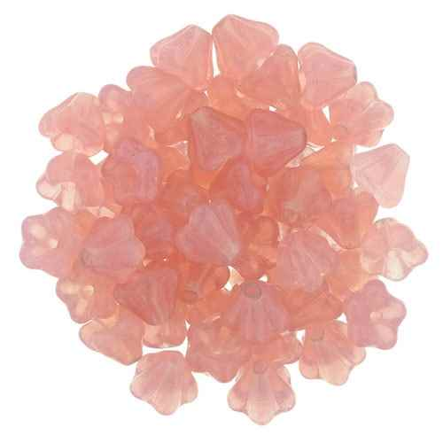 CZBBF-71010 - Baby Bell Flowers 4/6mm : Milky Pink - 25 Count