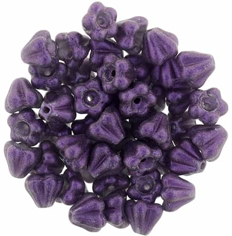 CZBBF-S14C2051 - Baby Bell Flowers 4/6mm : Metallic Suede - Lavender - 25 Count