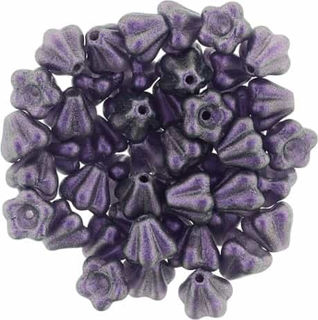 CZBBF-S16C2051 - Baby Bell Flowers 4/6mm : Rose Simmer Tanzanite - 25 Count