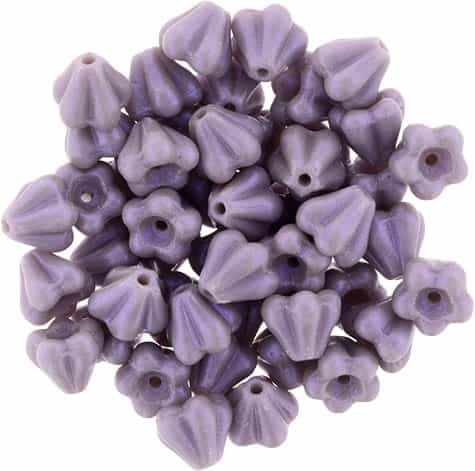 CZBBF-S19C23020 - Baby Bell Flowers 4/6mm : Opalescent Amethyst - 25 Count