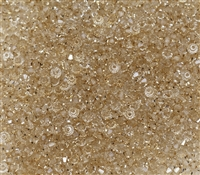 Machine Cut 3mm Bicone Crystals : CZBC3-79245 - Crystal Honey - 25 count
