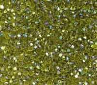 Machine Cut 3mm Bicone Crystals : CZBC3-X5023 - Olivine AB - 25 count