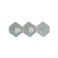 Machine Cut 4mm Bicone Crystals : CZBC4-0100 - Milky White - 25 count