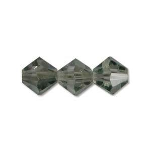 Machine Cut 4mm Bicone Crystals : CZBC4-14257 - Luster - Transparent Pale Green - 25 count