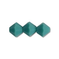 Machine Cut 4mm Bicone Crystals : CZBC4-6305 - Turquoise - 25 count