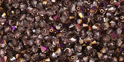 Machine Cut 4mm Bicone Crystals : CZBC4-PR2005 - Purple Iris - Amethyst - 25 count