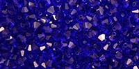 Preciosa Machine Cut 4mm Bicone Crystals : CZBC4-X3008 - Cobalt - 25 count