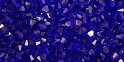 Machine Cut 4mm Bicone Crystals : CZBC4-3008 - Cobalt - 25 count