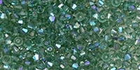 Machine Cut 4mm Bicone Crystals : CZBC4-X5031 - Prairie Green AB - 25 count