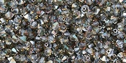 Machine Cut 4mm Bicone Crystals : CZBC4-Z3002 - Light Sapphire - Celsian - 25 count