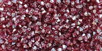 Machine Cut 4mm Bicone Crystals : CZBC4-Z7035 - AB Fuchsia - Celsian - 25 count