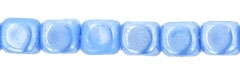 Czech Cubes - 4mm - CZC4-L33020 - Luster - Opaque Light Blue - 25 Count