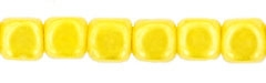Czech Cubes - 4mm - CZC4-L83110 - Luster - Opaque Yellow - 25 Count