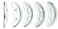 CZCRESC-27000 : CzechMates Crescent : Silver - 4 Grams - Approx 30 Beads