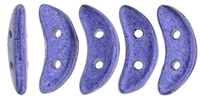 CZCRESC-77028 : CzechMates Crescent : ColorTrends: Saturated Metallic Violet - 4 Grams - Approx 30 Beads