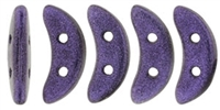 CZCRESC-79021 : CzechMates Crescent : Metallic Suede - Purple - 4 Grams - Approx 30 Beads