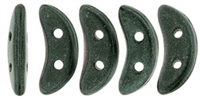 CZCRESC-79052 : CzechMates Crescent : Metallic Suede - Dark Forest - 4 Grams - Approx 30 Beads