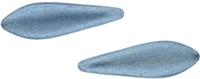 CzechMates Two Hole Daggers 5/16mm : CZD-04B06 - ColorTrends: Saturated Metallic Neutral Gray - 25 Daggers
