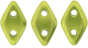 "CZDIA-05A09 - CzechMates Diamond 4x6mm Tube 2.5"" : ColorTrends: Saturated Metallic Lime Punch - Approx 8 Grams"