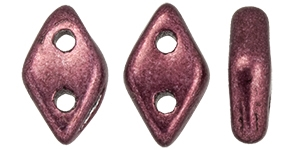 "CZDIA-06B01 - CzechMates Diamond 4x6mm Tube 2.5"" : ColorTrends: Saturated Metallic Red Pear - Approx 8 Grams"