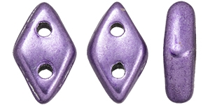 "CZDIA-06B08 - CzechMates Diamond 4x6mm Tube 2.5"" : ColorTrends: Saturated Metallic Crocus Petal - Approx 8 Grams"