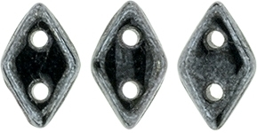 "CzechMates Diamond 4x6mm Tube 2.5"" : Hematite"