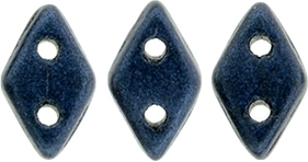 "CzechMates Diamond 4x6mm Tube 2.5"" : Metallic Suede - Dk Blue - Approx 8 Grams"