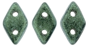 "CzechMates Diamond 4x6mm Tube 2.5"" : Metallic Suede - Lt Green"