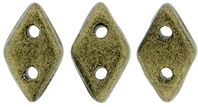 "CzechMates Diamond 4x6mm Tube 2.5"" : Metallic Suede - Gold"