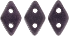 "CzechMates Diamond 4x6mm Tube 2.5"" : Metallic Suede - Dk Plum - Approx 8 Grams"