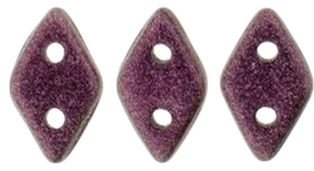 "CzechMates Diamond 4x6mm Tube 2.5"" : Metallic Suede - Pink - Approx 8 Grams"