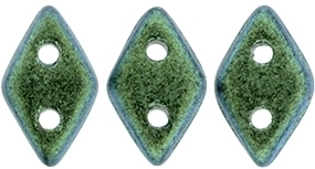 "CzechMates Diamond 4x6mm Tube 2.5"" : Polychrome - Aqua Teal - Approx 8 Grams"