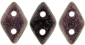 "CzechMates Diamond 4x6mm Tube 2.5"" : Polychrome - Pink Olive - Approx 8 Grams"