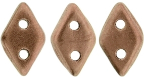 "CzechMates Diamond 4x6mm Tube 2.5"" : Matte - Metallic Bronze Copper - Approx 8 Grams"