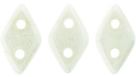 "CzechMates Diamond 4x6mm Tube 2.5"" : Luster - Opaque White - Approx 8 Grams"