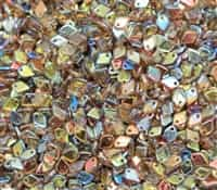 Czech Dragon® Scale Beads - CZDS-00030-98532 - Crystal Brown Rainbow - 5 Grams