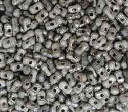 CZFAR-00030-27400 - Czech Farfalle Beads Mercury Etch - 5 Grams