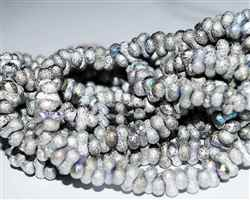 CZFAR-27000-28701 - Czech Farfalle Beads -Full Silver AB Etched - 5 Grams