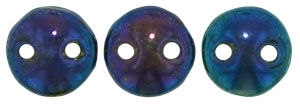 CzechMates Lentil 6mm : CZL-21435 - Iris - Blue - 25 Beads
