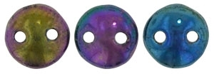 CzechMates Lentil 6mm : CZL-21495 - Iris - Purple - 25 Beads