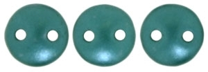 CzechMates Lentil 6mm : CZL-25027 - Pearl Coat - Teal - 25 Beads