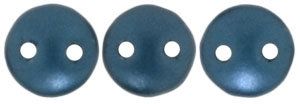 CzechMates Lentil 6mm : CZL-25033 - Pearl Coat - Steel Blue - 25 Beads
