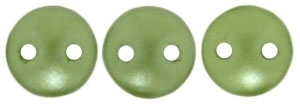 CzechMates Lentil 6mm : CZL-25034 - Pearl Coat - Olive - 25 Beads